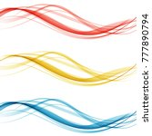 set of abstract waves...   Shutterstock .eps vector #777890794