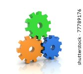 Illustration With Three Gears...