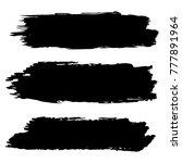 vector black paint  ink brush... | Shutterstock .eps vector #777891964
