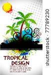 tropical beach party background ... | Shutterstock .eps vector #77789230