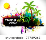tropical beach party background ... | Shutterstock .eps vector #77789263