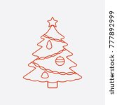 christmas tree with star icon | Shutterstock .eps vector #777892999