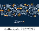 merry christmas seamless... | Shutterstock .eps vector #777895225