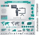 business training icon set  and ... | Shutterstock .eps vector #777895849