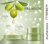 hydrating facial olive cream... | Shutterstock .eps vector #777898879