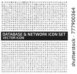 database and network icon set... | Shutterstock .eps vector #777900364