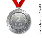 realistic 3d silver trophy... | Shutterstock .eps vector #777906931