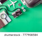 top view travel concept with... | Shutterstock . vector #777908584
