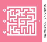 Labyrinth Shape Design Element...