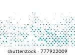 light blue  green vector... | Shutterstock .eps vector #777922009