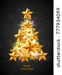 christmas and new years red... | Shutterstock .eps vector #777934099