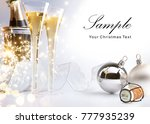 2018  merry christmas and happy ... | Shutterstock . vector #777935239