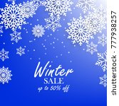 blue winter background with... | Shutterstock .eps vector #777938257