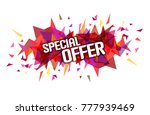 """word """"special offer"""" on...   Shutterstock .eps vector #777939469"""