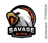 savage bird. eagle sports logo.   Shutterstock .eps vector #777954124