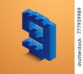 blue number nine from lego... | Shutterstock .eps vector #777959989
