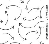 hand drawn arrow icon seamless... | Shutterstock .eps vector #777963385