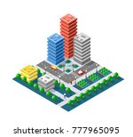colorful 3d isometric city of... | Shutterstock .eps vector #777965095