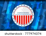 flag of usa background for... | Shutterstock .eps vector #777974374