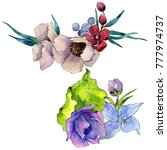 flower composition in a...   Shutterstock . vector #777974737