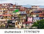 Colorful Shacks On Martinique