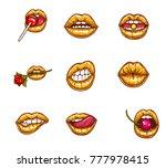 pop art vector set of sexy... | Shutterstock .eps vector #777978415
