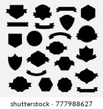 heraldry shield banner set... | Shutterstock .eps vector #777988627