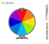 simple vector wheel of fortune... | Shutterstock .eps vector #777988801