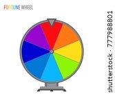 simple vector wheel of fortune...   Shutterstock .eps vector #777988801