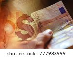 euro banknotes in man hand... | Shutterstock . vector #777988999