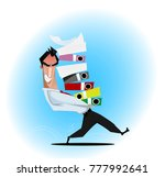 tired and angry businessman... | Shutterstock .eps vector #777992641