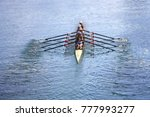 team of rowing four oar women... | Shutterstock . vector #777993277