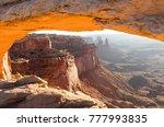 mesa arch sunrise | Shutterstock . vector #777993835