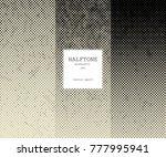 halftone vintage gradient... | Shutterstock .eps vector #777995941