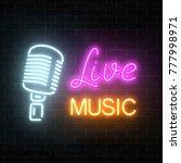 neon signboard of nightclub... | Shutterstock .eps vector #777998971