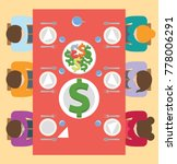 family eating dinner  money... | Shutterstock .eps vector #778006291