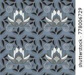 vector fashionable fabric... | Shutterstock .eps vector #778006729