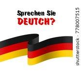 sprechen sie deutch. the... | Shutterstock . vector #778007515