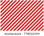 red and white diagonal lines.... | Shutterstock . vector #778010194