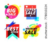 colorful sale sticker vector | Shutterstock .eps vector #778010224