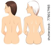 brunette nude woman showing... | Shutterstock .eps vector #778017985