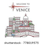 welcome to venice poster with... | Shutterstock .eps vector #778019575