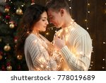 young couple together in... | Shutterstock . vector #778019689