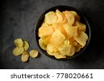 delicious potato chips with... | Shutterstock . vector #778020661