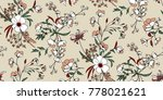 seamless floral pattern in... | Shutterstock .eps vector #778021621