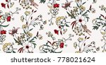 Stock vector seamless floral pattern in vector 778021624