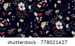 seamless floral pattern in... | Shutterstock .eps vector #778021627