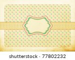 retro pretty background ...   Shutterstock . vector #77802232