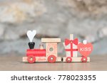 toy locomotive with gifts on... | Shutterstock . vector #778023355