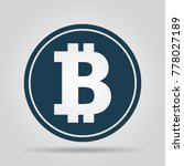bitcoin icon  coin logo. crypto ... | Shutterstock .eps vector #778027189